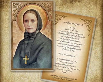 St. Frances Cabrini Holy Card orWood Magnet #0083