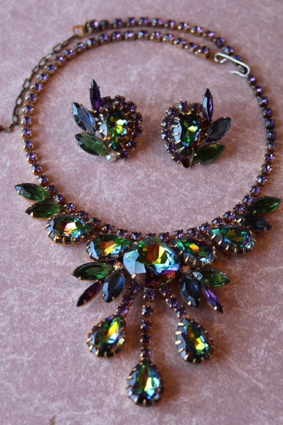 Anne DiMartino Watermelon Heliotrope Necklace and Earrings
