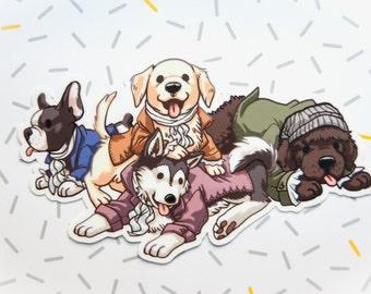 Hamilton Musical, Sticker, Vinyl Stickers, Hamilton Broadway, Lin Manuel Miranda, Dog Stickers, Cute Stickers, Animal Stickers, Hamilton Art