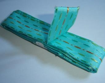 TURQUOISE stripe Ribbon / / 3 m