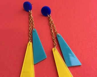 Postmodern Party Chain Earrings