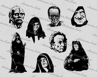 Digital SVG PNG palpatine, emperor palpatine, darth sidious, star wars inspired, clipart, vector, silhouette, instant download