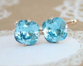 Cufflinks,cuff links,turquoise cufflinks,crystal cufflinks,womens cufflinks,wedding cufflinks,blue cufflinks,groom cufflinks,groomsmen gift