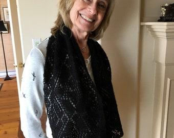 Qiviut lace scarf snd wrist warmers