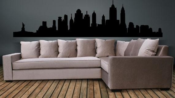 new york city skyline wall decal wall art sticker