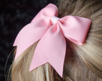 Hair Bow - Traditional Light Pink Grosgrain Hairbow