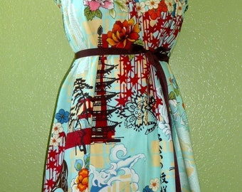Strapless DRESS - Alexander Henry - Koto - Made in ANY Size - Boutique Mia by CXV