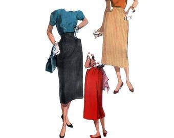 non des années 50-coupe crayon jupe motif vintage 31-24-33 Taille 24 XS nouveau Look jupe motif jupe Slim motif simplicité 4885