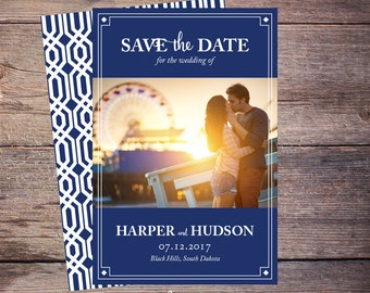 Save the Date Postcard, Save-the-Date Card, Photo, DIY Printable, Digital File, DIY Save the Date