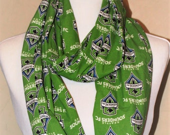 Seattle Sounders FC Soccer Infinity Scarf