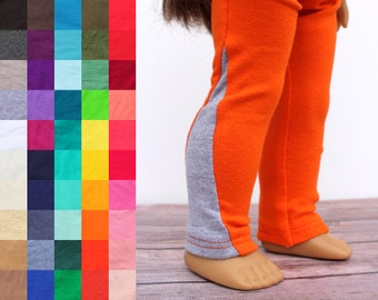 Fits like American Girl Doll Clothes - Exercise Leggings, You Choose Colors   18 Inch Doll Clothes