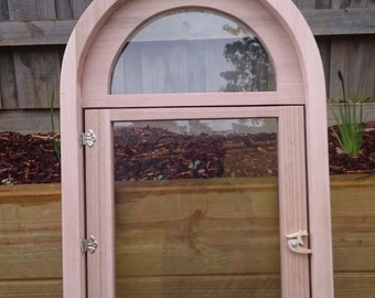 custom timber arched windows