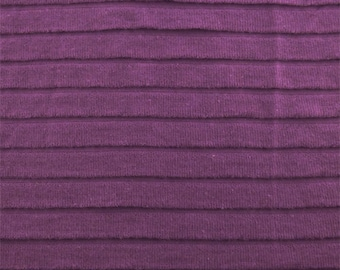 Purple Pleated Knit, Fabric By The Yard
