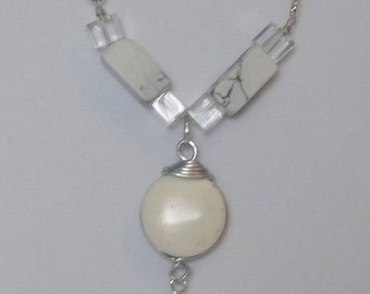 White stone medallion