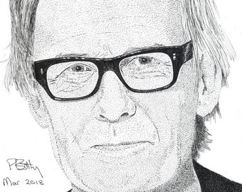 Greeting Card - Pen & Ink Drawing, A5 - Bill Nighy