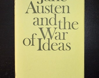 1975 JANE AUSTEN and the War of Ideas by Marilyn Butler, Pride Prejudice Sense Sensibility Emma Mansfield Park Persuasion Northanger Abbey