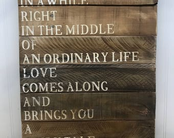 Fairytale Love Sign - Rustic Pallet Wall Art - Love Story Pallet Sign - Bridal Shower Gift - Wedding Gift - Ordinary Life Wood Sign - 15x20