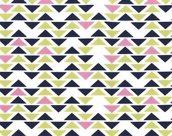 Technicolor Triplet by Emily Herrick Kryptonite Michael Miller Fabric Geometric 1 Yard