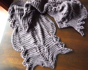 Cascading Cable Hand Knit PDF Scarf Pattern