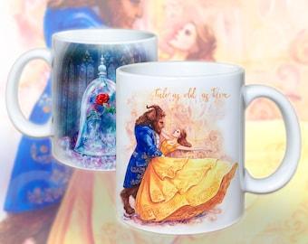 Beauty and the Beast, Enchanted Rose, Mug by Takila