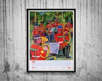 1960s London Underground Poster Reprint