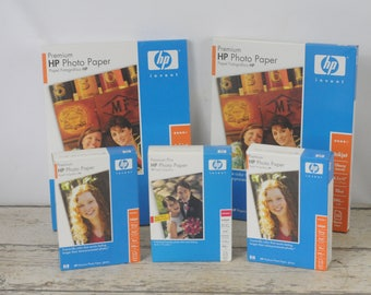 New In The Box Photo Paper (2) 8.5x11 Glossy (3) 4x6 Glossy Printer Photo Paper