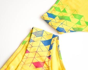 Diamond Back(side) Women's Handmade Underwear - Recycled Cotton - Size 10 - Ready to Ship