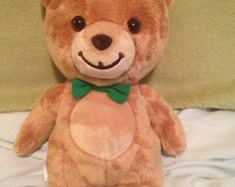 1990s Kraft peanut butter teddy bear green bow