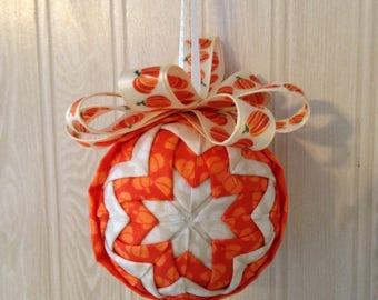 A Plethora of Pumpkins Fabric Ornament