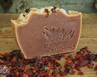 Handmade Rosehip Soap, all natural, vegan, palm free, handcrafted