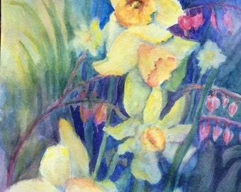 Good Morning! - New (Original watercolor matted)