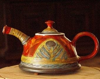 Handmade Pottery Teapot, Rustic Wedding gift, Ceramic teapot, Unique Tea Pot, Teapots, Retro Tea Party, Danko Pottery
