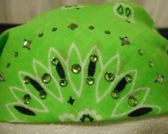 Sparkling Swarovski Crystal Embellished Head Wrap Bandana