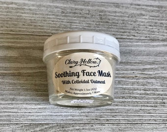 Face Mask - Natural Skincare - Oatmeal Mask - Coconut Milk - Kaolin Clay - Facial - Clay Mask - Soothing Mask