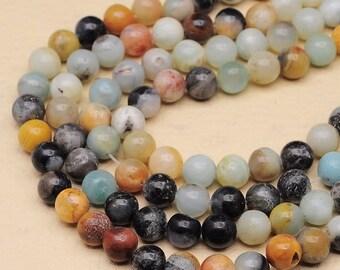 1 Strand of 8 mm round Amazonite beads   (#J1483)