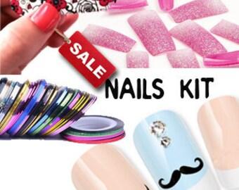 SALE DIY Nails Art Tools Kit Set for Nails Tips