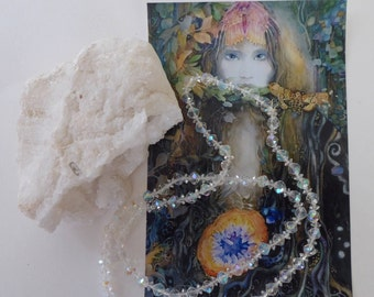 Faery Sparkles Necklace & Crystal Cave Geode