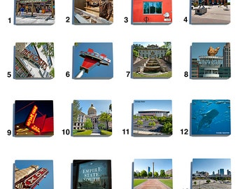 Atlanta Color Stone Coaster Tile Set - Pick any four images - 16 to choose from