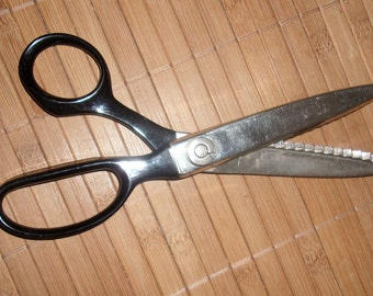Vintage Pinking Shears Scissors Weiss 7 1/2""
