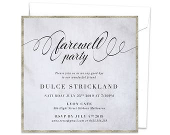 Farewell Party Invitation, Goodbye Party Invitation, Leaving Party Invitation, Going Away Party, Bon Voyage Party, Moving Away, Adios Party