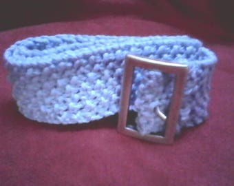 cotton sky blue belt buckle silver