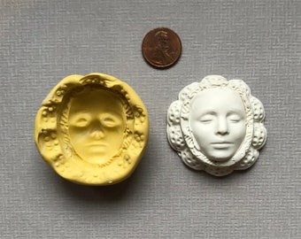 Custom Silicone Queen Face Mold and Cab Clay Face set