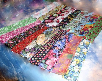 Flowers Nature & Birds Cooling Neck Ties, Choice Color - Reusable, Washable - Summer Heat Relief Gel Scarves