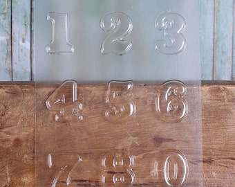 """Numbers Chocolate Mold, Numbers Candy Molds, 1.75"""" Number Candy Molds, Chocolate Candy Moulds, Candy Moulds, Number Chocolate Moulds"""