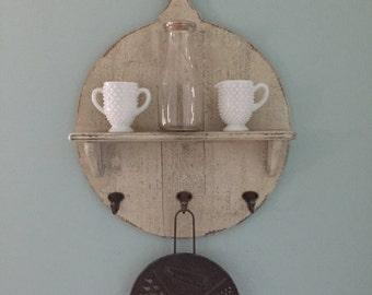 Round Handle Shelf with Hooks