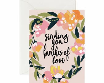 Sending You Bunches of Love Card