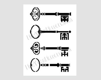 Keys Silhouette Cross Stitch Pattern, Cross Stitch Pattern, Cross Stitch, Needlepoint, Silhouette, Keys from NewYorkNeedleworks on Etsy