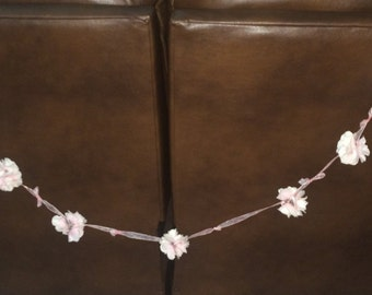 String of decorative flowers