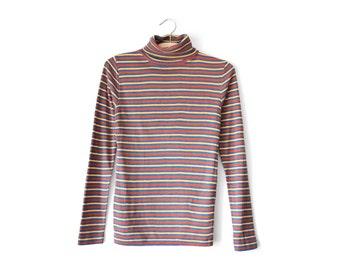 70s striped turtleneck