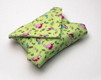 Reusable Sandwich Wrap, Lunch Wrap, Spring Birds kids design, Waterproof, Eco Friendly, Waste Free